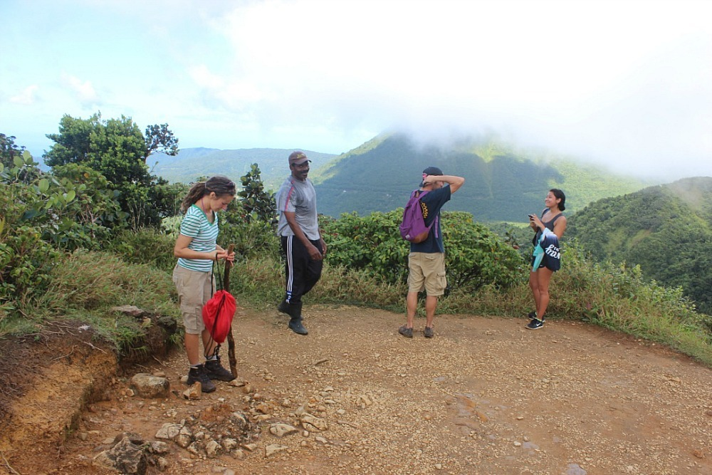 Summit of Morne Nicholls - Hiking to the Boiling Lake in Dominica