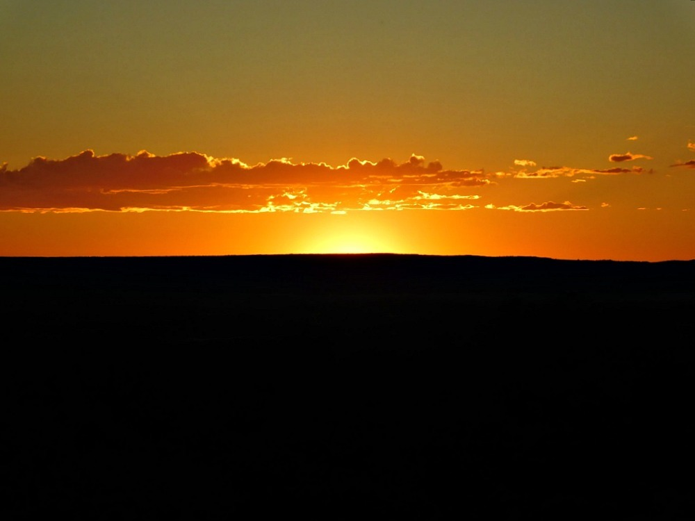 Sunset at Navajo National Monument in Arizona - visited during month twenty six of Digital Nomad Life