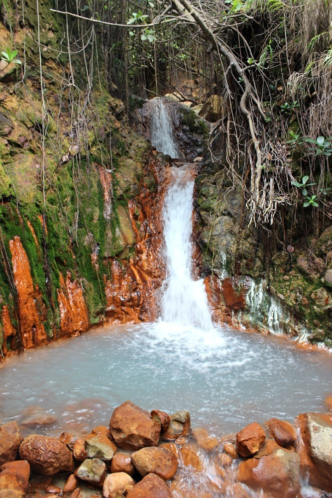 Hot Waterfall on the Hike to the Boiling Lake in Dominica