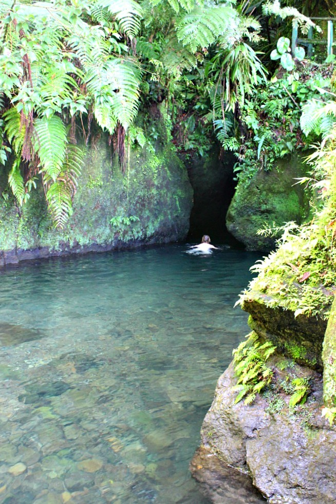 Titou Gorge at the beginning of the hike to the Boiling Lake in Dominica