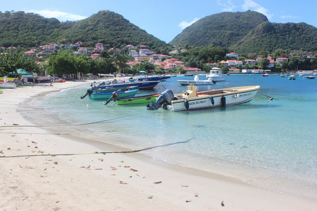 Le Bourg beach on Les Saintes: The French Caribbean Islands that time forgot
