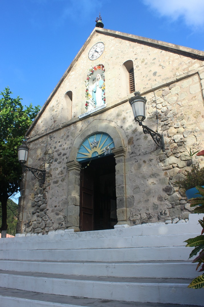 Stone church in Le Bourg on Les Saintes: The French Caribbean Islands that time forgot