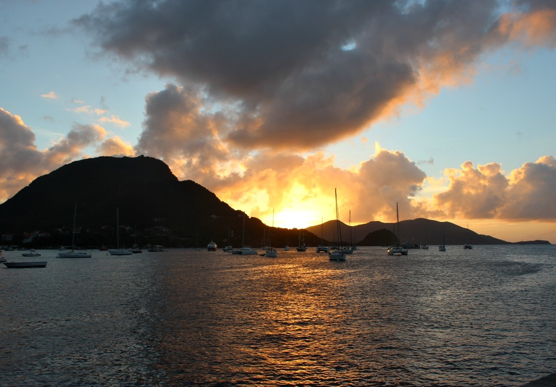 Sunset on Les Saintes: The French Caribbean Islands that time forgot