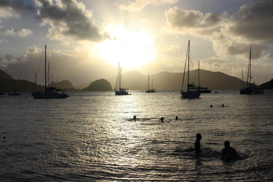 Beautiful beach sunset on Les Saintes: The French Caribbean Islands that time forgot