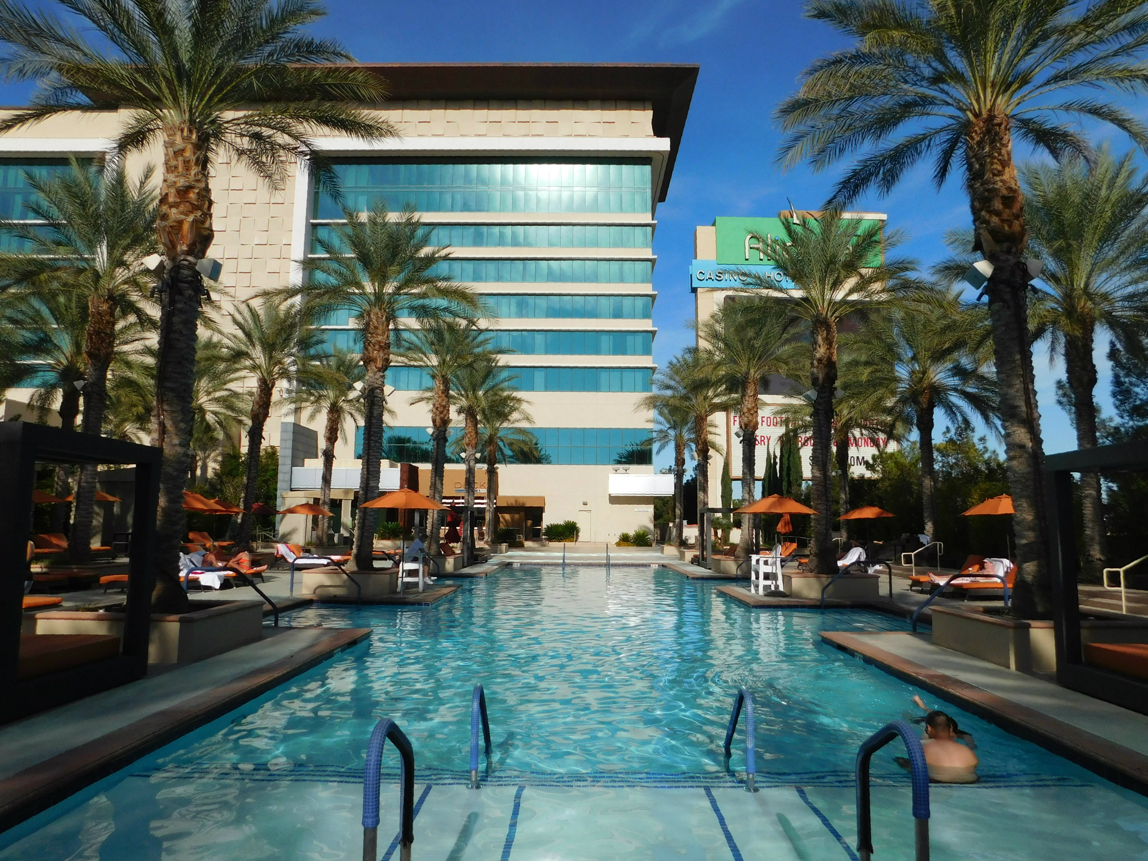 Relaxing by the pool at Aliante in Las Vegas during Month Twenty Eight of Digital Nomad Life