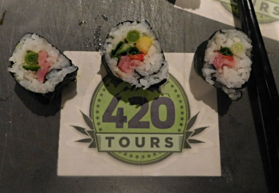 Learning how to roll sushi and joints is a fun way to experience Cannabis culture in Denver