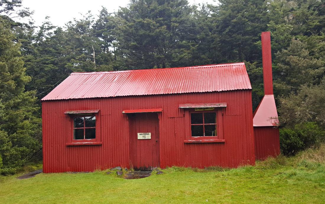 The original historic Waihohonu Hut on the Tongariro Northern Circuit