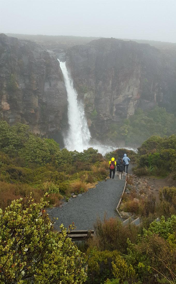 Taranaki Falls on the Tongariro Northern Circuit