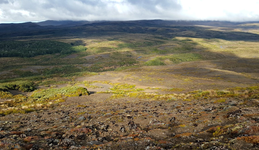 Valley views on the Tongariro Northern Circuit