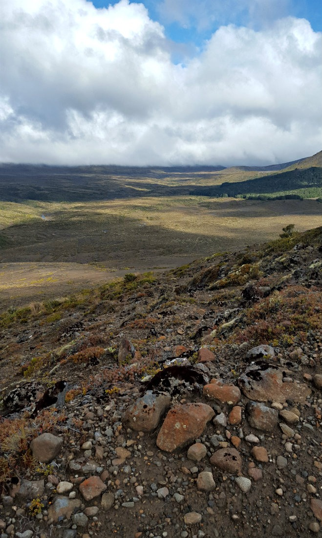 Views over the Valley on day two of the Tongariro Northern Circuit