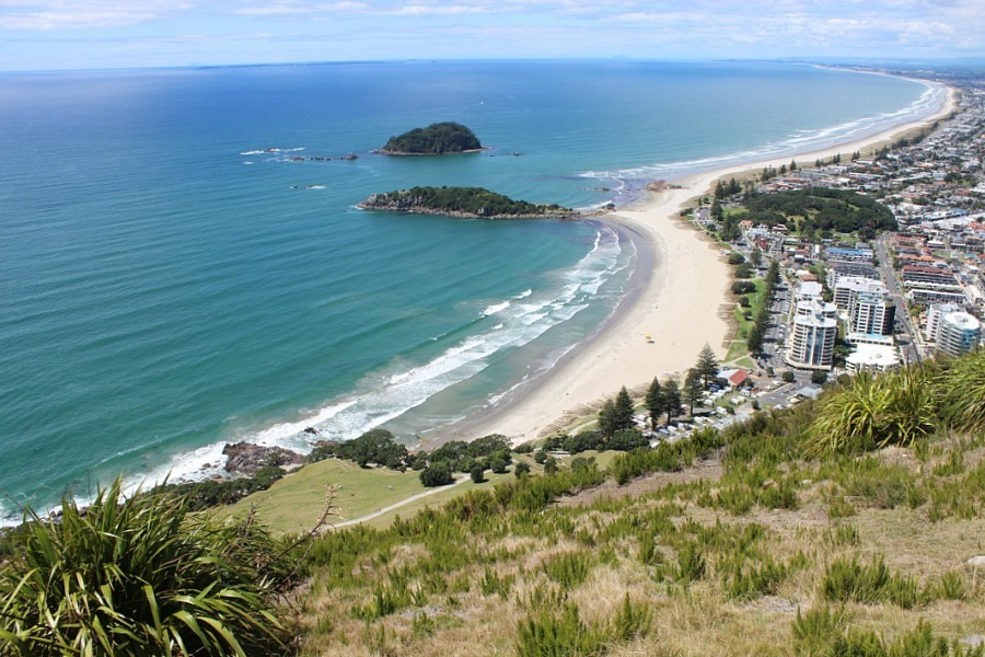 View from Mount Maunganui summit