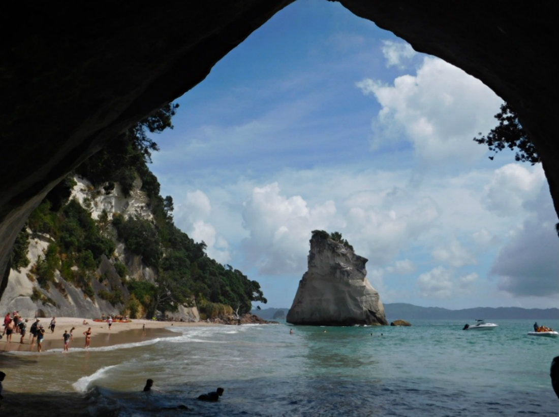 Visiting Cathedral Cove during month thirty one of digital nomad life