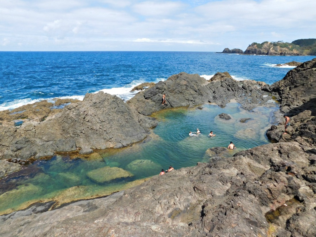 Swimming at the Mermaid pools during month thirty one of digital nomad life