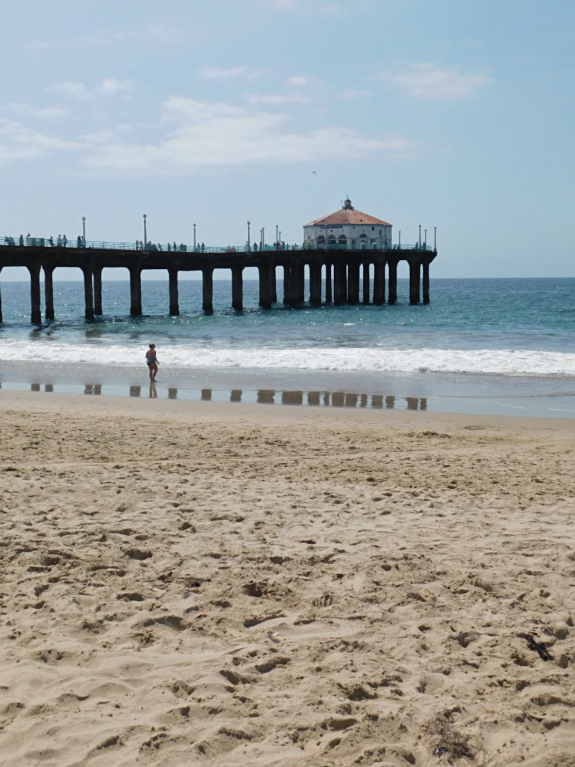 The beautiful beach of Manhattan Beach in the South Bay, Los Angeles