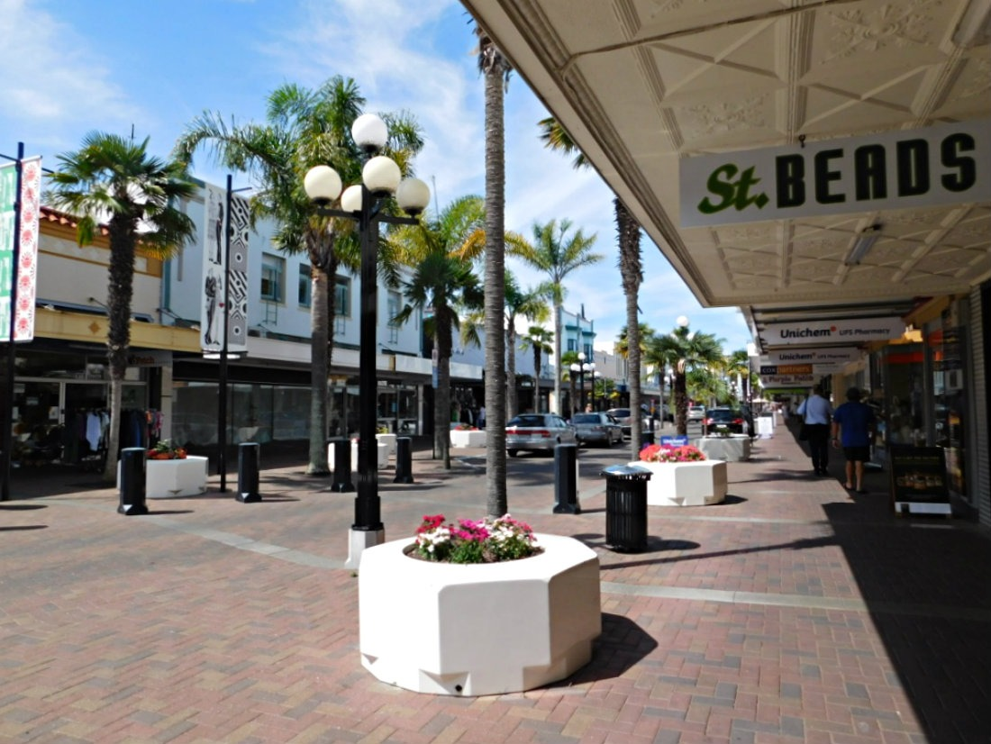 Enjoying the Art Deco architecture in Napier during month thirty two and thirty three of Digital Nomad Life