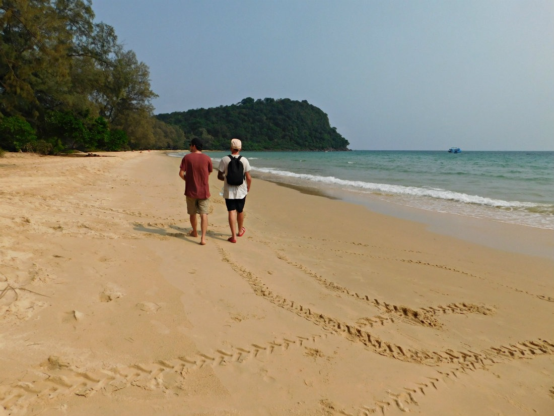 Strolling Lazy Beach on Koh Rong Sanloem in Cambodia