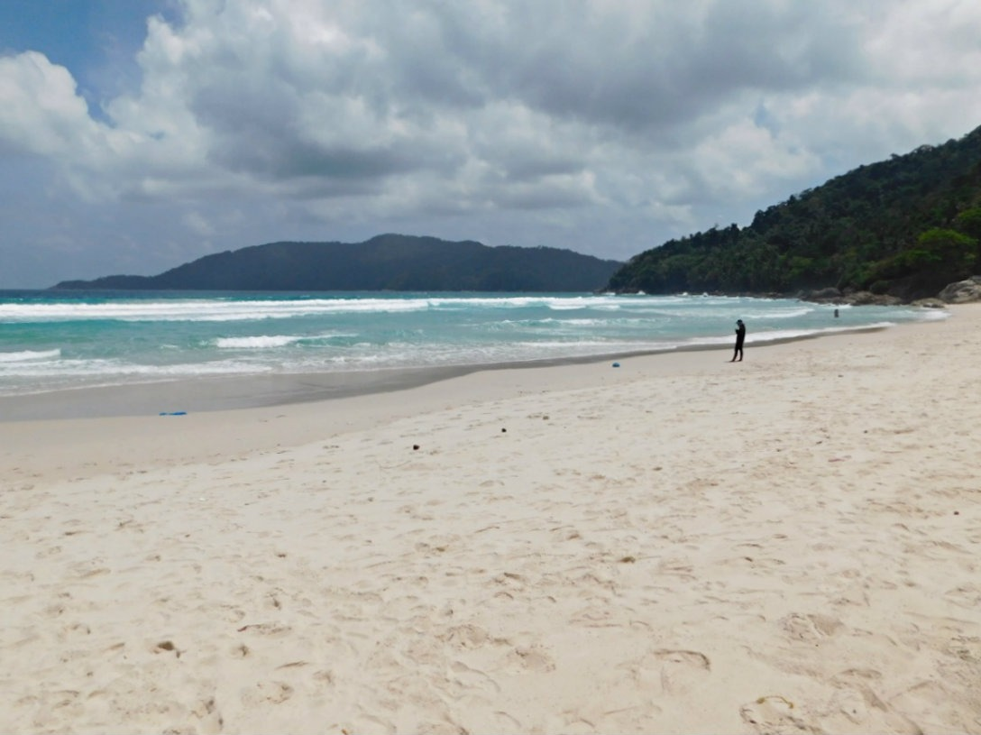 Swimming at Long Beach on Perhentian Kecil during month thirty two and thirty three of Digital Nomad Life