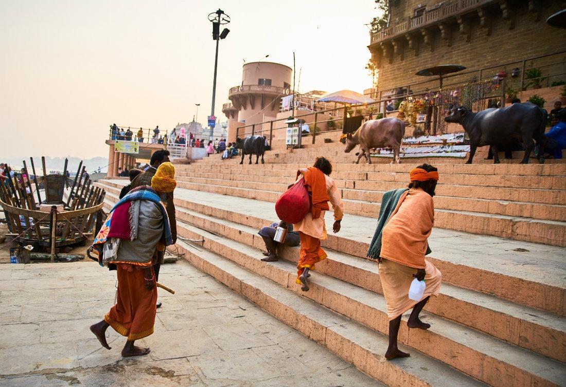 Hindus in Varanasi India