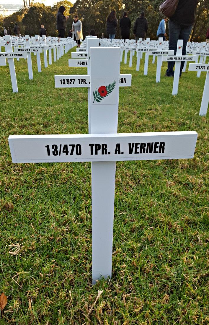 A Verner Cross - WW1 Veteran - in Auckland, New Zealand