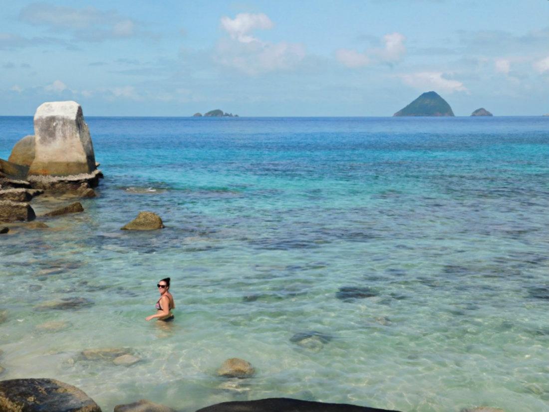 Swimming on Perhentian Kecil Island in Malaysia