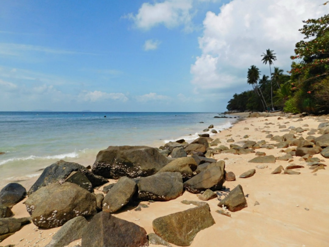 A quiet beach in the Perhentian Islands in the shoulder season