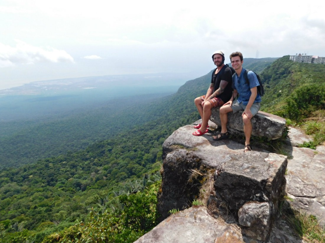 Admiring the views from Bokor Hill Station - one of the best things to do in Kampot, Cambodia