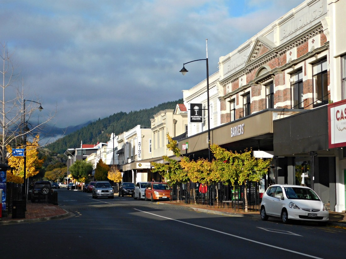 Downtown Nelson in New Zealand