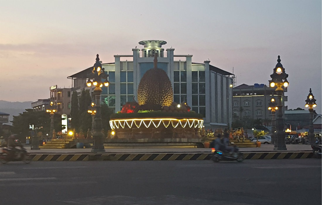Checking out the Durian Roundabout is one of the best things to do in Kampot