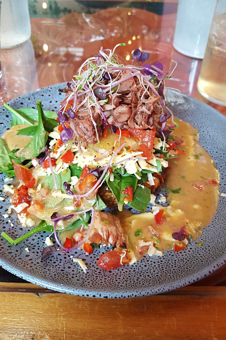 Vegetarian meal at East Street Cafe in Nelson, New Zealand