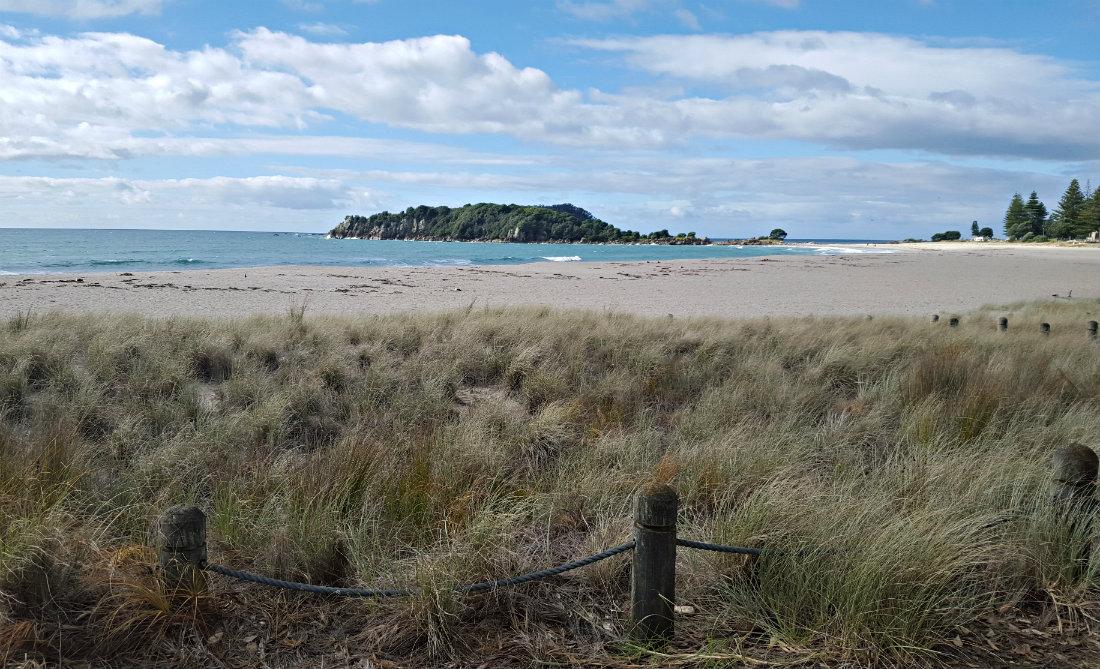 Mount Maunganui beach in Tauranga, New Zealand