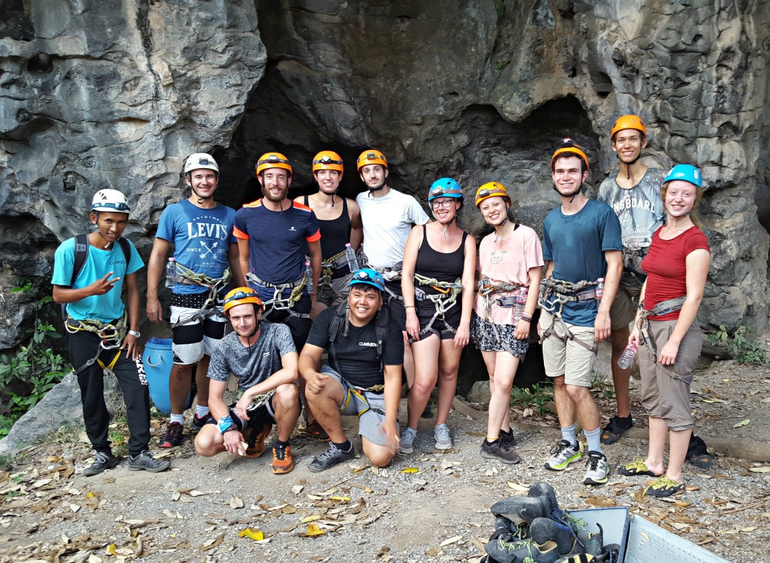 Our Climbodia rock climbing group in Kampot Cambodia