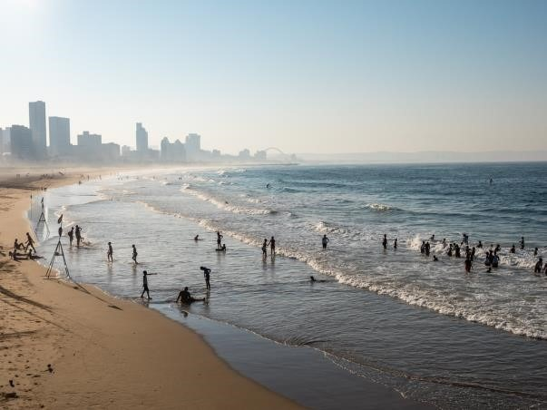 Beach in Durban South Africa