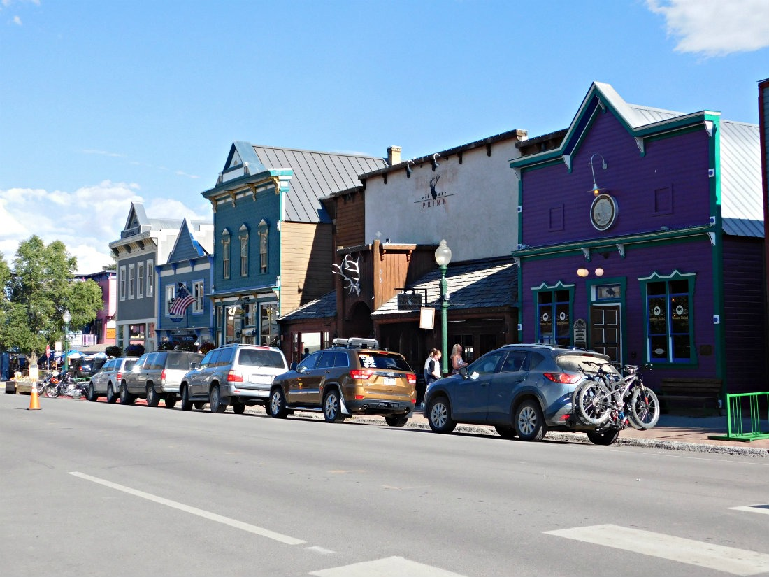 The Town of Crested Butte - the start of the East Maroon Pass trail from Crested Butte to Aspen