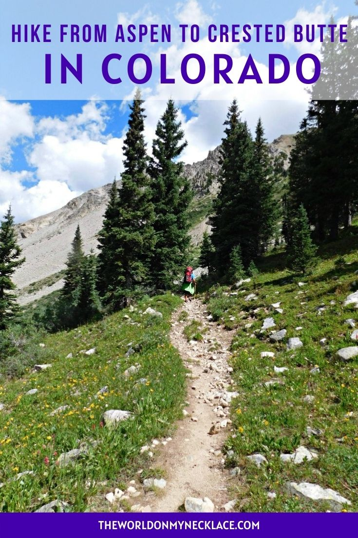 Hike from Aspen to Crested Butte in Colorado