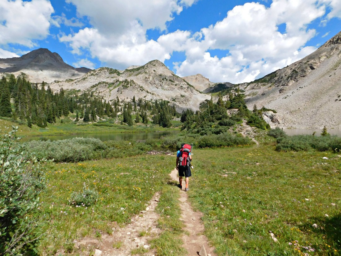 Trail near Copper Lake on the East Maroon Pass hike from Crested Butte to Aspen