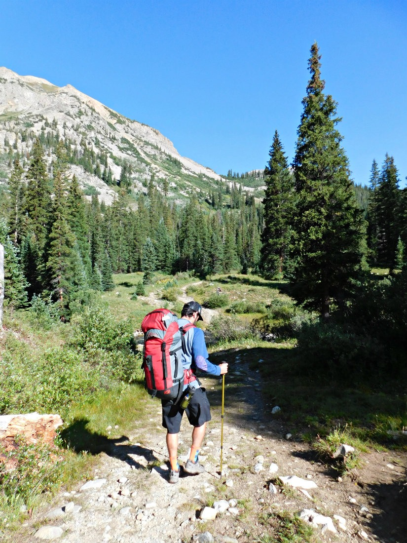 Hiking the East Maroon Pass trail from Crested Butte to Aspen