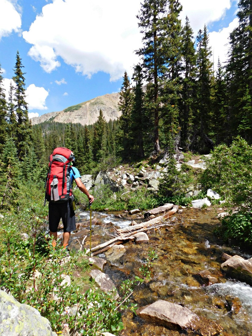 River crossing on the East Maroon Pass trail from Crested Butte to Aspen