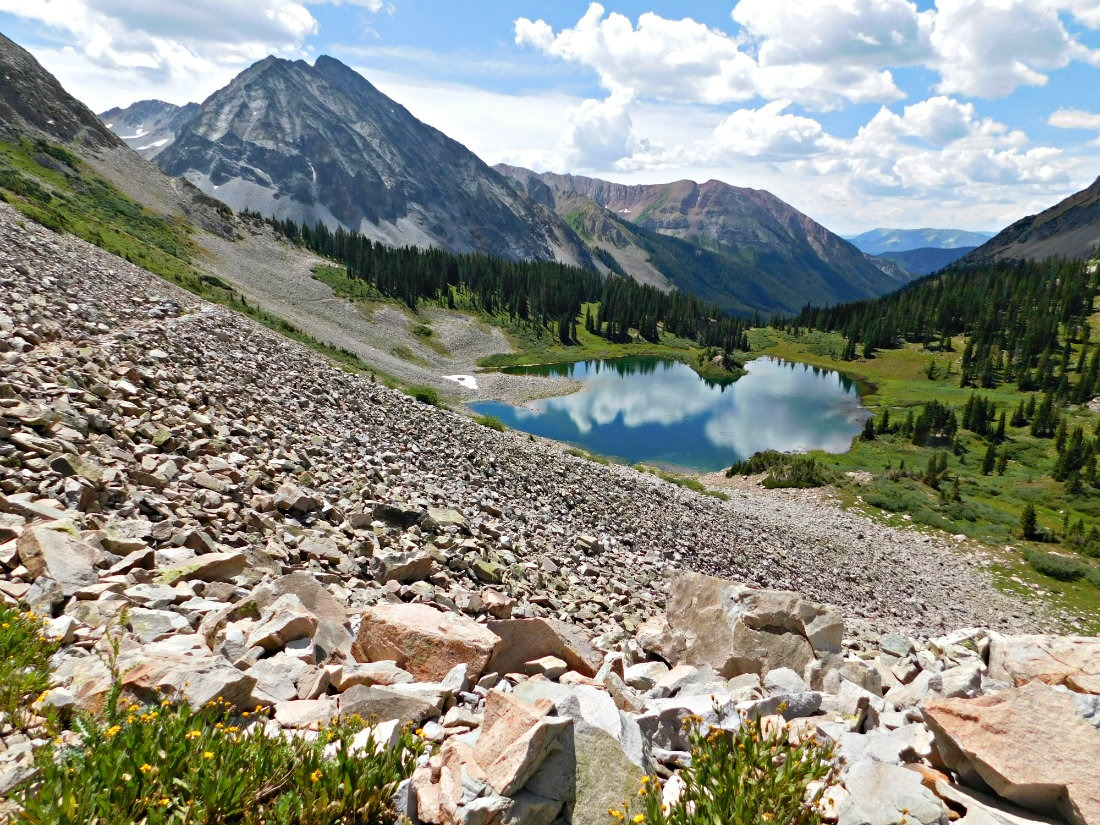 Hiking in Colorado in summer