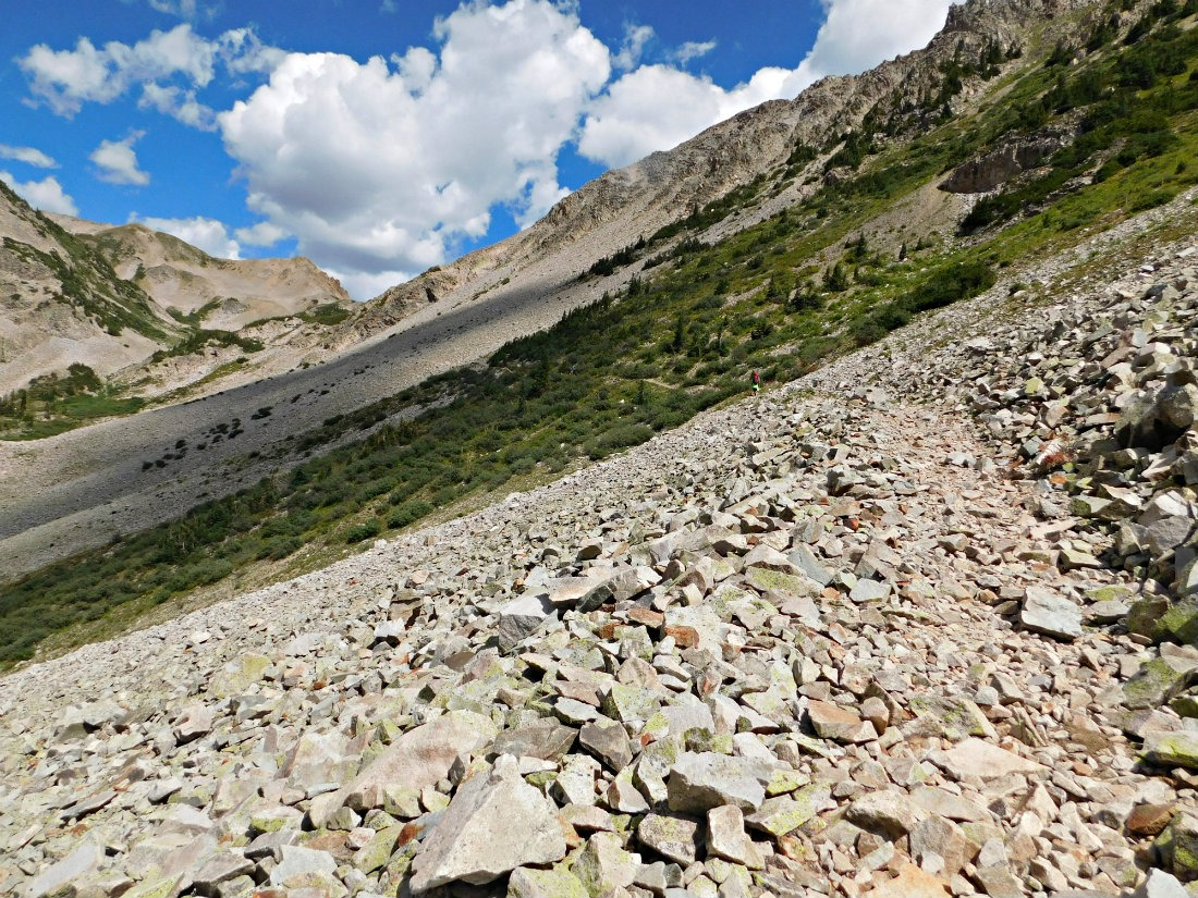 Hiking up to East Maroon Pass on the Crested Butte to Aspen hike