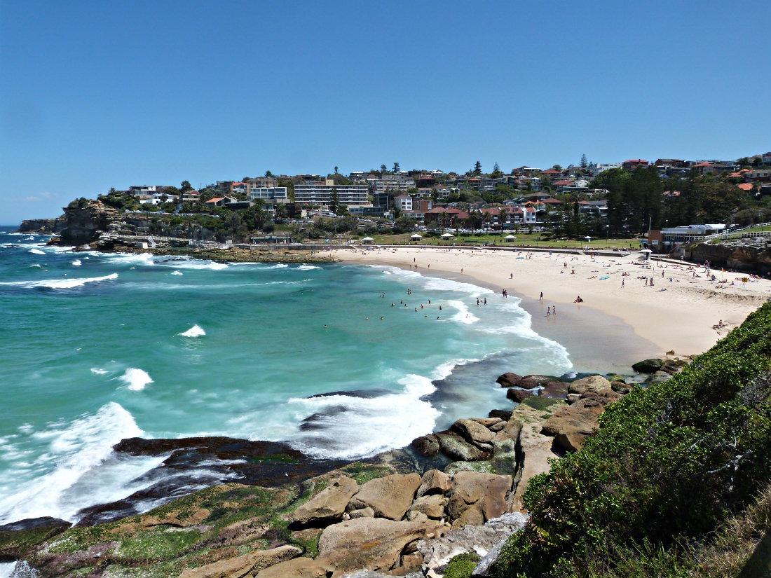 Beach views on the Bondi to Coogee Walk in Sydney