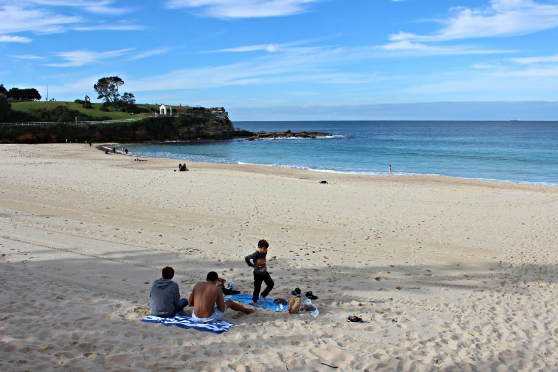 Relaxing on Coogee beach is a must on any itinerary for 5 days in Sydney