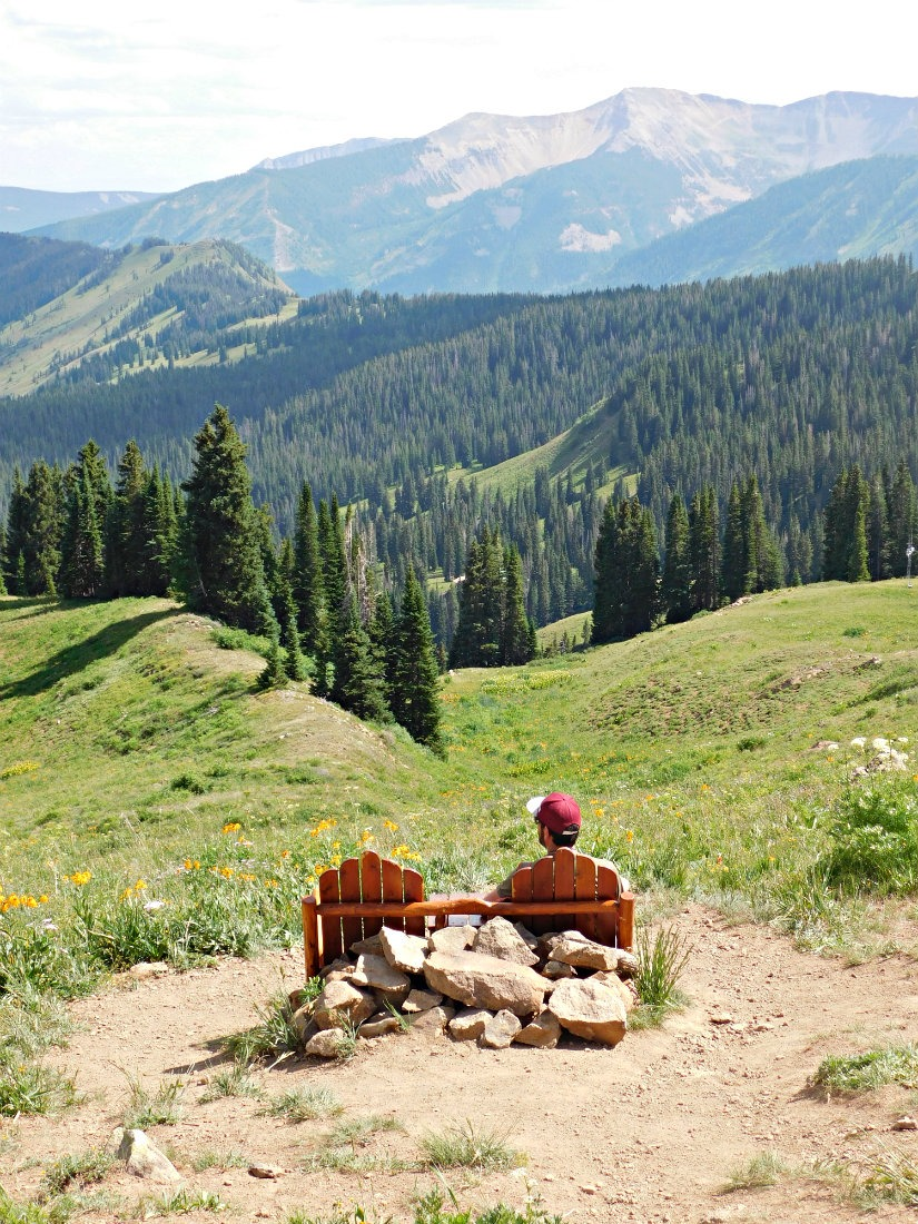 Relaxing in the mountains around Crested Butte