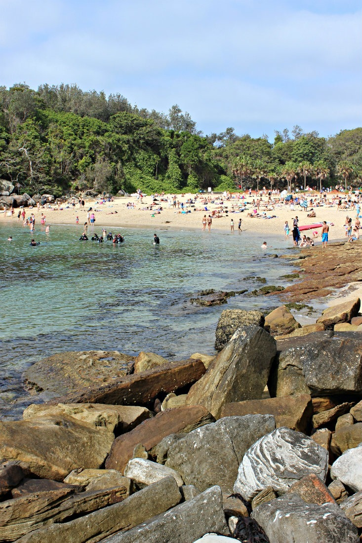Swimming at Shelly Beach in Manly in Sydney
