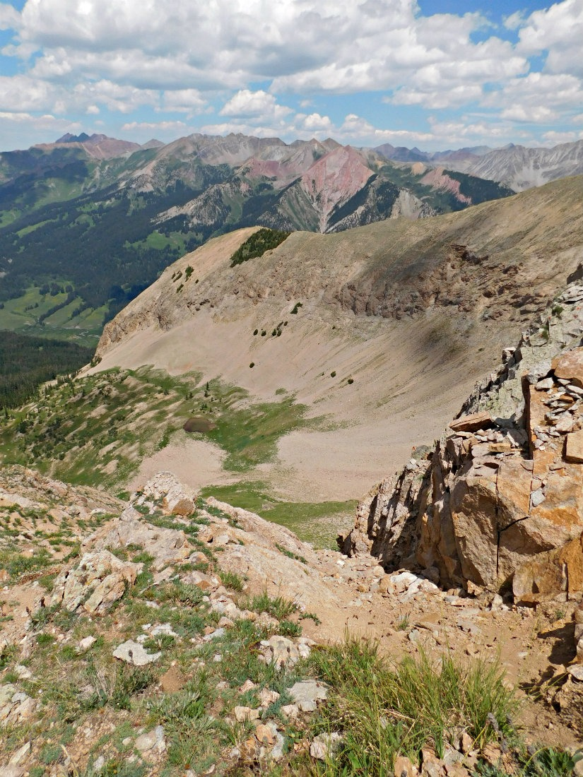 Hiking Mount Gothic in Colorado in summer