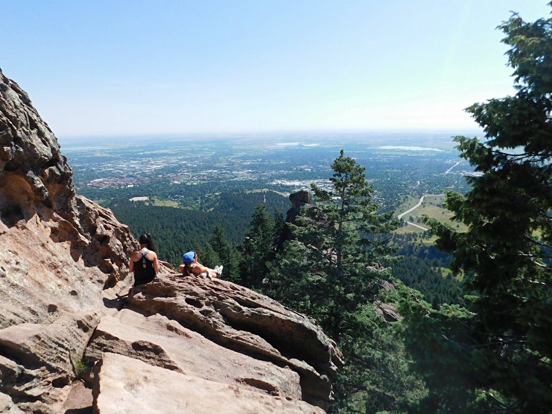 View from the Royal Arch Hike in Boulder, Colorado