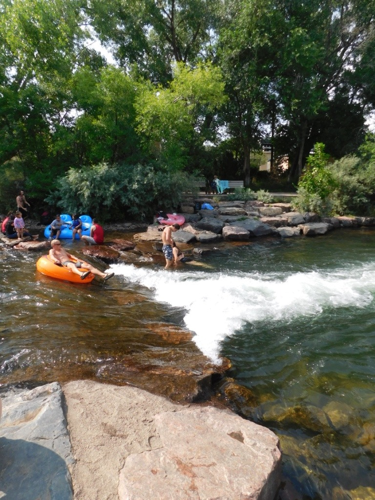 Swimming in Clear Creek in Golden Colorado during month thirty eight of Digital Nomad Life