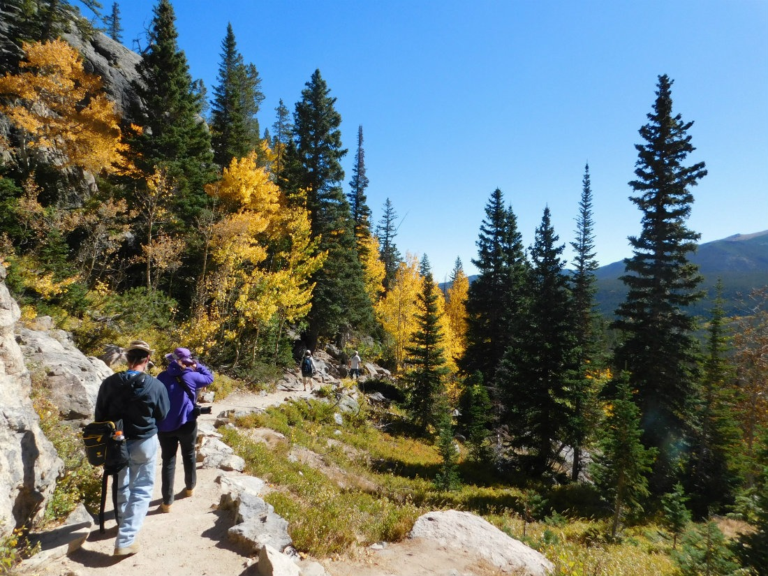 Enjoying the fall colors in Rocky Mountain National Park, Colorado