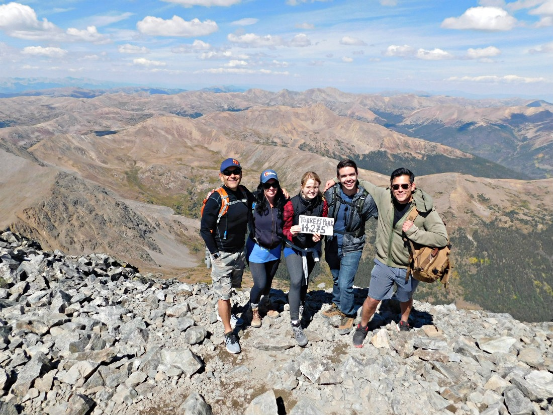 The Summit of Torrey's Peak - a 14er in Colorado