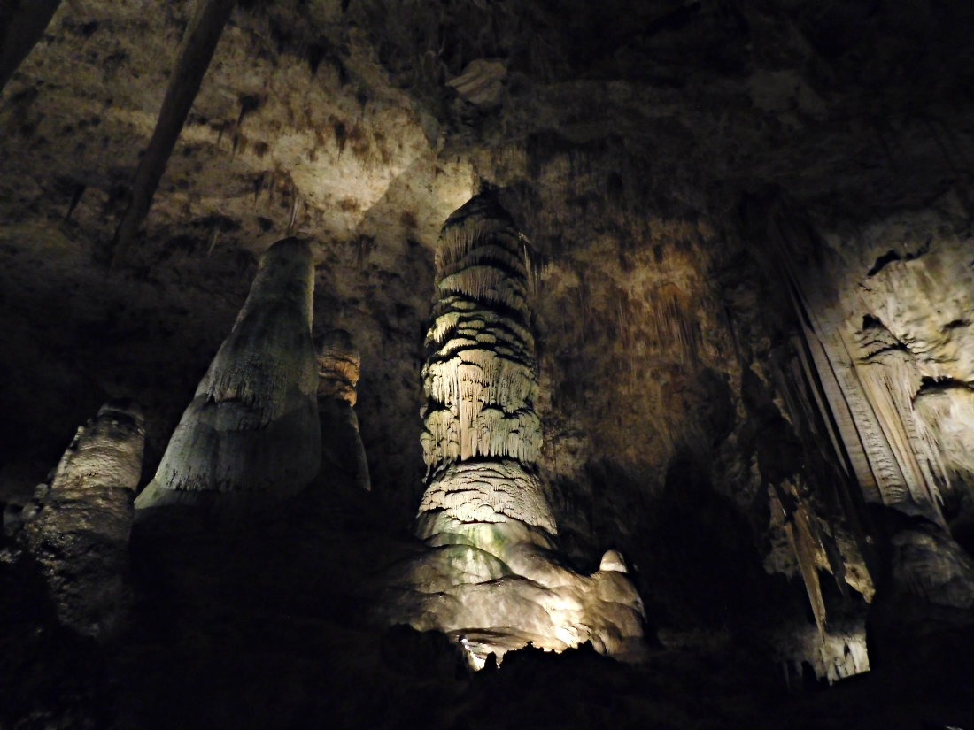 Hiking underground in Carlsbad Caverns National Park, New Mexico