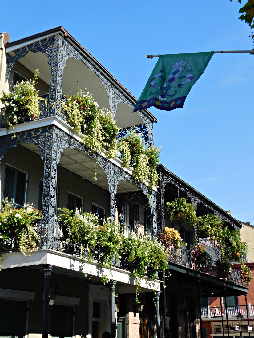 Beautiful architecture in the French Quarter of New Orleans
